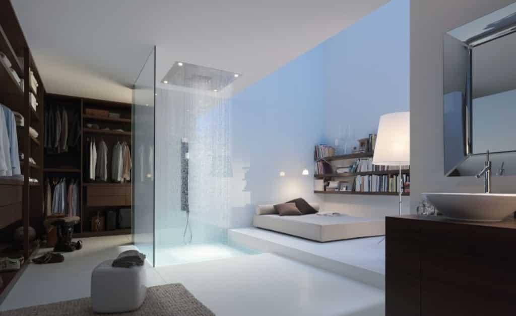 Robinetterie Salle de bain plafonnier douche