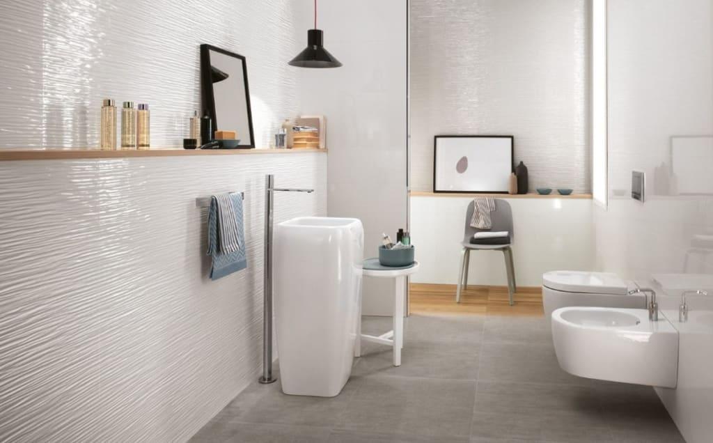 Carrelage salle de bain Wave Glossy 3D