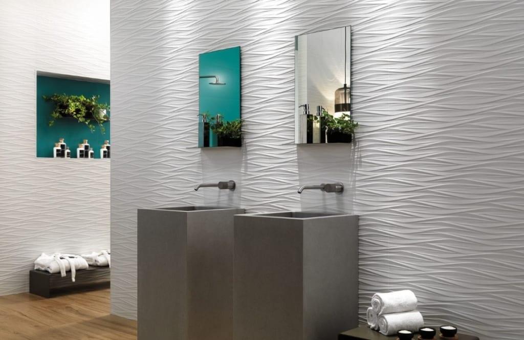 Carrelage salle de bain 3D wind