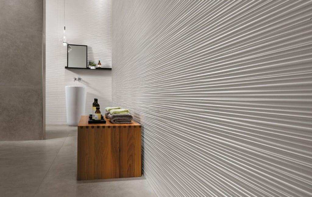 Carrelage 3D line white