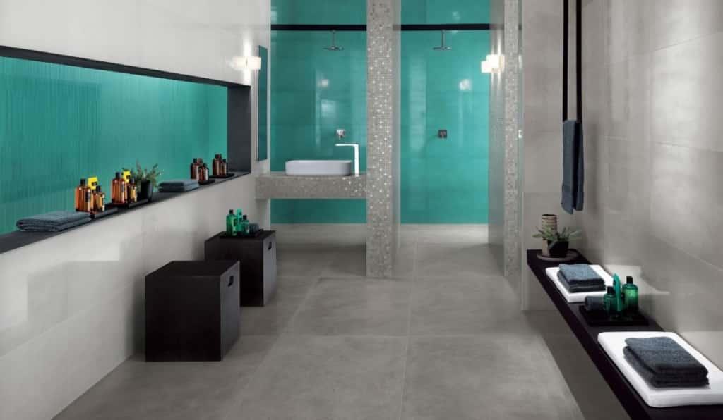 Faience salle de bain DW turquoise