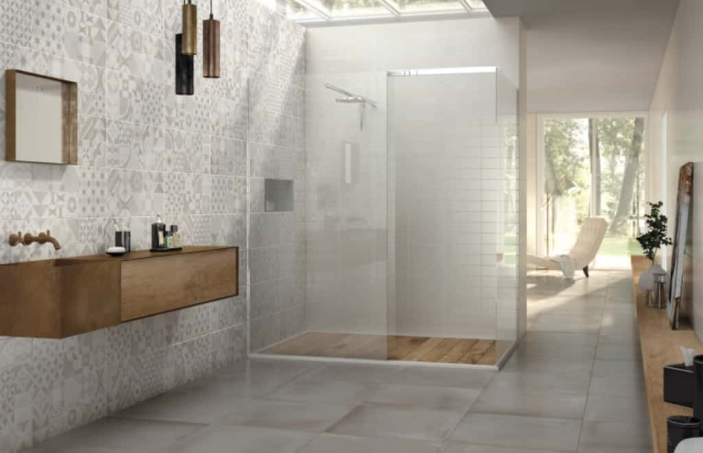 Carrelage salle de bain argille