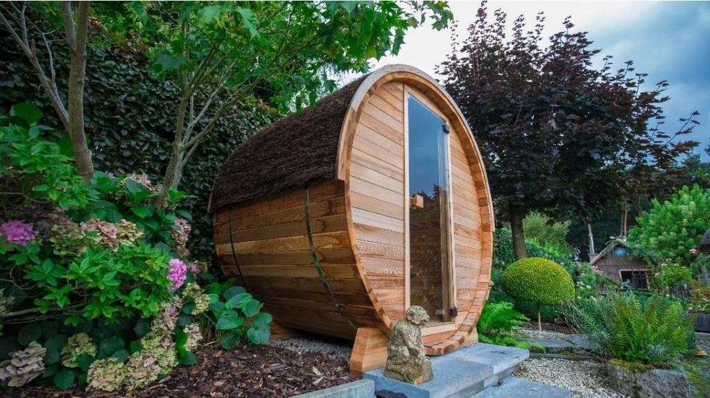 Sauna extérieur Barrel en cèdre canadien