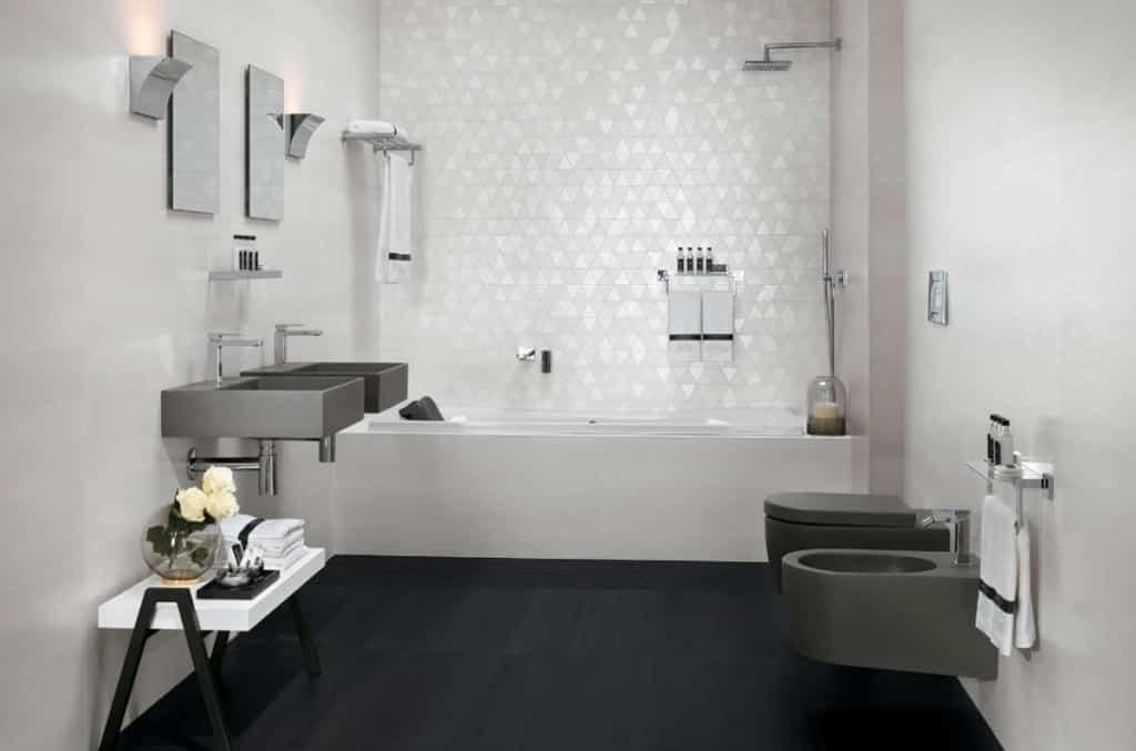 Carrelage salle de bain melk white wall
