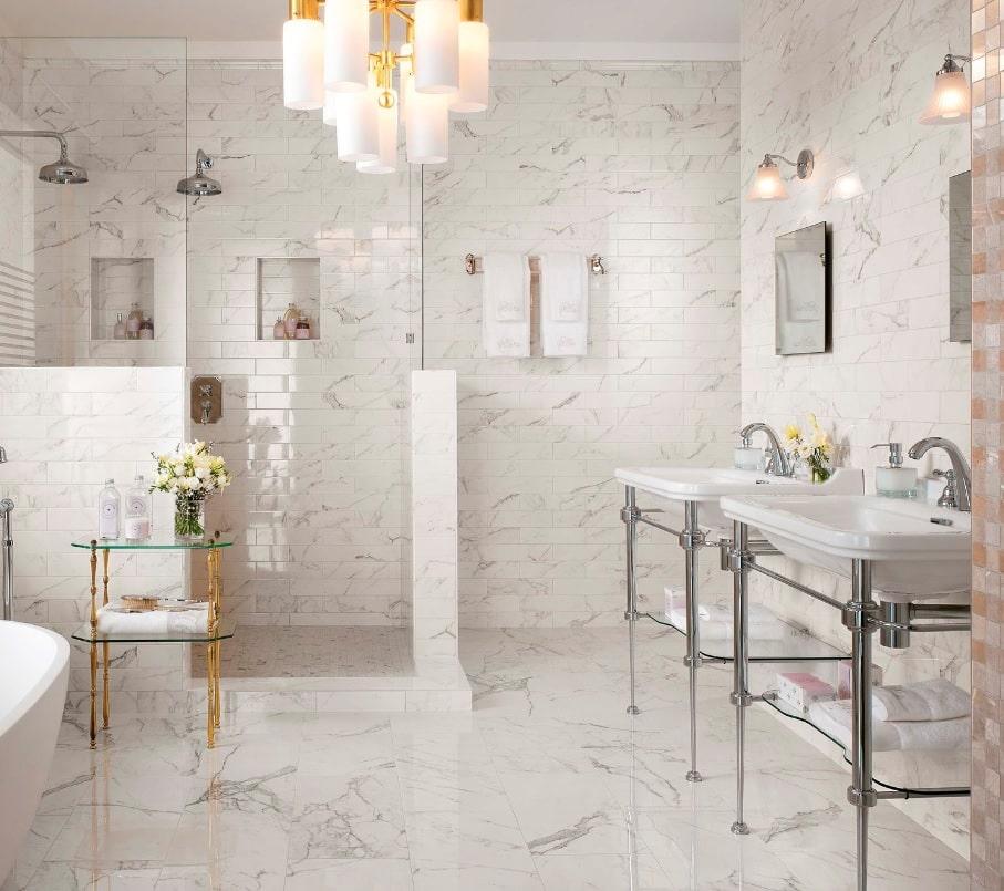 carrelage salle de bain marvel brick