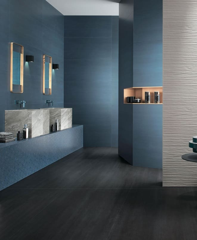 Carrelage salle de bain melk blue