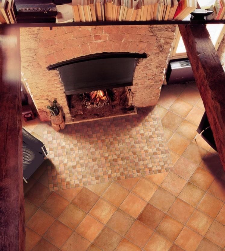 Carrelage intérieur Quintana rosso cotto de grès cérame