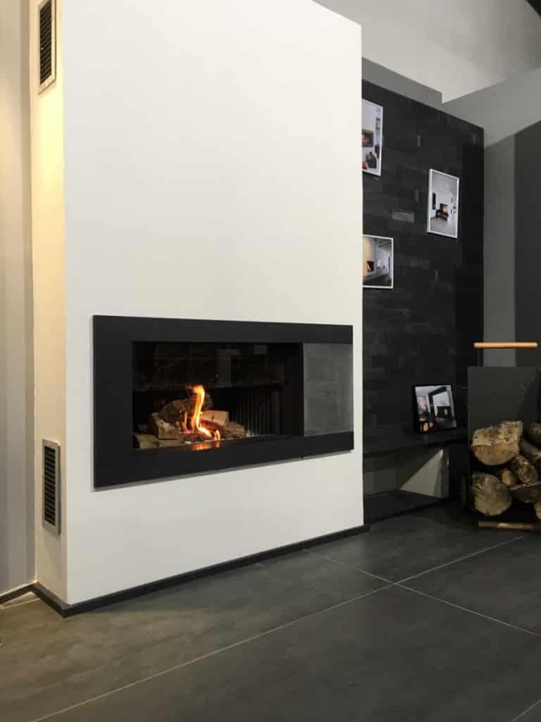 Cheminée trou à feu avec foyer kalfire