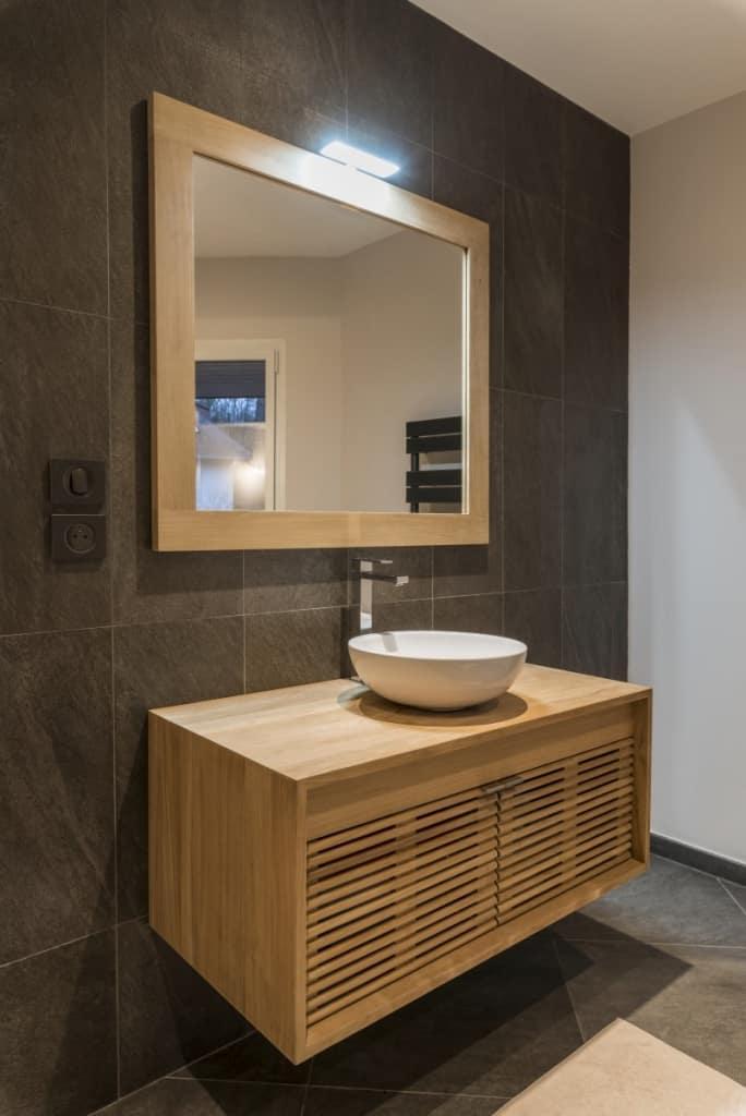 Meuble salle de bain en teck