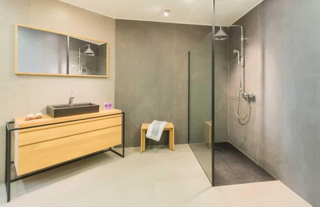 Meuble ethnicraft de salle de bain